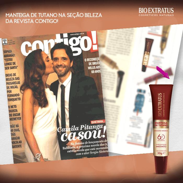 Manteiga de Tutano é destaque na Revista Contigo